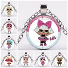 Princess Costume Jewelry Lol Surprise Doll Chain Glass Necklace Pendant Dress Up