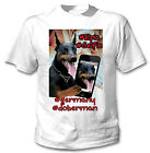 DOBERMAN SELFIE - NEW COTTON WHITE TSHIRT