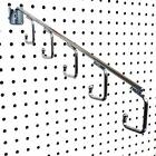 "16"" L Pegboard 5 Hook Waterfall Faceout Hook, Black or Chrome"
