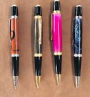 Pen Twist Style Acrylic Colors 24K Gold Plate Rhodium Components Handmade In USA