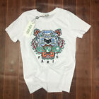 Fashion KENZO T-Shirt Unisex All Size S-2XL Cotton Embroidered Tiger Head Patter