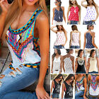 Women Boho Tank Tops Sleeveless Loose Vest Blouse Summer Casual T-shirt Cami Tee