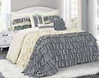 HIG 7/8 Piece Gray Color Comforter Set  Bed in A Bag Various Designs For Choose image