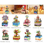 Hot 3D Jigsaw Puzzles Kits Toy DIY Wooden Music Box Island of Love Birthday Gift