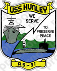 Sticker Usn As 31 Uss Hunley