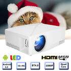 HD 1080P LED Smart Projector Home Theater HDMI Home Beamer 2200Lm Android 6.0