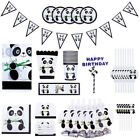 Favors Happy Birthday Baby Shower Panda Theme Banners Popcorn Box Tablecloth