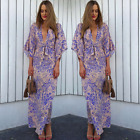 US Women Boho Floral Long Maxi Dress Evening Party Beach Dresses Summer Sundress <br/> ❤US STOCK ❤FAST DELIVERY ❤EASY RETURN❤High Quality
