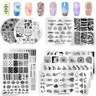 NICOLE DIARY Nail Art Image Flower Overprint Stamping Plates Printing Templates