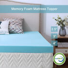 Gel Memory Foam Mattress 2.5/3/4 Inch Topper Blue Ventilated Queen King Twin Ful image