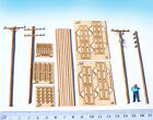 HO scale Electric Utility Poles kit Miniature Telegraph model diorama HOn3 wood