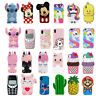 3D Cute Disney Cartoon Soft Silicone Phone Case Cover For iPhone4/5/6/7/8Plus XR