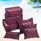 6PCS Travel Packing Organizer Cubes Clothes Storage Bags Luggage Set Pouch USA фото