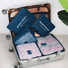 6PCS Travel Packing Organizer Cubes Clothes Storage Bags Luggage Set Pouch USA