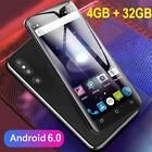 "Cheap Unlocked 5"" Android 6.0 Mobile Smart Phone Quad Core Dual Sim Wifi Gps 3g"