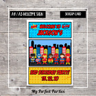 A4 A3 PERSONALISED Boy Superhero Birthday Party Welcome Sign 2