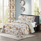 All American Collection New 3pc Printed Modern Floral Bedspread Coverlet Set image