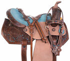 Used Western Barrel Saddle 15 16 Pleasure Trail Show Bling Horse Leather Tack