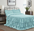 HIG 3 Piece ECHO Ruffle Skirt Bedspread Set 30 inches Drop Twin Queen King Size image