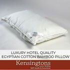 Kensingtons® Luxury Bamboo Bed Pillows 74x48cm 100% Egyptian Cotton Cover 400T/C image