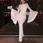 Womens Bell Sleeve Bodycon Lace Ball Prom Evening Party Cocktail Maxi Long Dress $20.42 USD on eBay