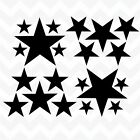 Stars Pack Of 20 Vinyl Wall Art Stickers Decorative Accents Mixed Size Home Car