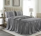 HIG 3 Piece EMMA Ruffle Skirt Bedspread Set 30 inches Drop Twin Queen King Size image