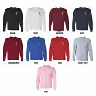 Cross Custom Mens Long Sleeve Christian T-Shirt Left Chest Hit Tee Choose Color