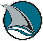 "San Jose Sharks Fin NHL Vinyl Decal - You Choose Size 2""-28"" $21.99 USD on eBay"