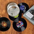 Set of 4/6 Retro Vinyl CD Record Drinks Coffee Coasters Home Table Cup Mat Decor
