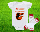 Baltimore Orioles Outfit Onesie And Leggings Set Watching With Mommy on Ebay