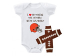 Cleveland Browns Outfit Onesie And Leggings Set Watching With Grandma on eBay