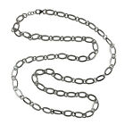 40inch Handmade Designer Long Chain Necklace 925 Sterling Silver Gift Jewelry