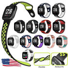 Soft Silicone Sport Strap Women Men Large Breathable Band For Fitbit Versa US image