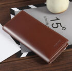 US Men's Leather Bifold Credit ID Card Holder Suit Wallet Purse Checkbook Clutch image