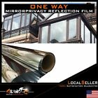 Silver Window Tint Film One Way Mirror Solar Wrap Privacy Protect UV Rejection