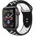 Replacement Silicone Sport Band 38mm 42mm For Nike+ Apple Watch Series 1 2 3 4