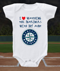 Seattle Mariners Onesie Bodysuit Shirt Love Watching With My Aunt on Ebay