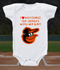 Baltimore Orioles Onesie Shirt Bodysuit Love Watching With My Aunt on Ebay