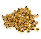 gold plated beads 5mm round corrugated