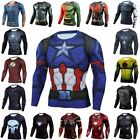 Marvel Avengers Superhero Compression Men's Shirt Top Cosplay Quick Dry Fitness