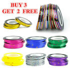 10Pcs Nail Striping Tape Line Self Adhesive Decal Holographic Nail Art Stickers