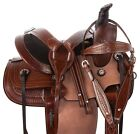 Premium Roping Ranch Western Trail Children Leather Horse Saddle Tack Used 12 13
