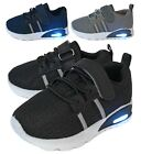 Внешний вид - New Baby Mesh Sneakers Light Up Shoes Black Navy Grey Infant Toddler Size 2 to 9