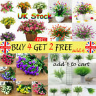 4 Types Artificial Flowers Fake Plants Grass Plastic In/outdoor Garden Lilybe