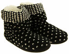 Womens Coolers Knitted Warm Faux Fur Lined Boot Slippers Sz Size UK 3-8