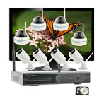 Business Home 1080P Wireless Security Camera System Hard Drive H.265 Monitor Kit