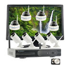 Business Home 1080P Wireless Security Camera System Hard Drive H.265 Monitor NVR