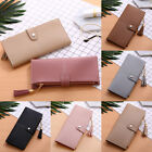 Bifold Leather Wallet for Women Soft Slim Clutch Credit Card Holder Long Purse image