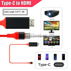 For Samsung Galaxy S8 S9 Note 10 S10 Plus 4K Type C To HDMI AV TV Cable Adapter